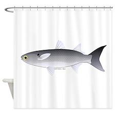 Black Mullet fish Shower Curtain