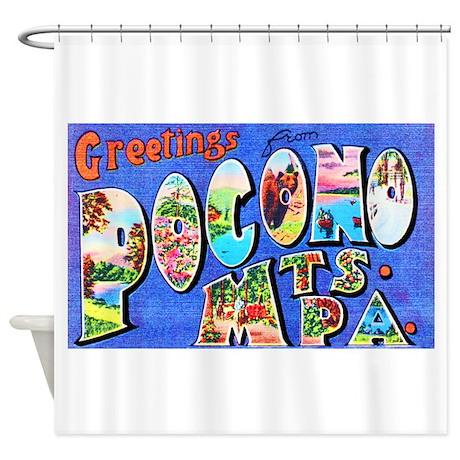 Pocono Mts. Pennsylvania Shower Curtain