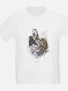 Gibbon Ape Monkey (Front) Kids T-Shirt