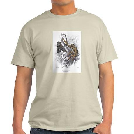 Gibbon Ape Monkey Ash Grey T-Shirt