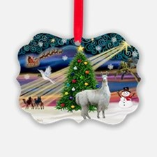 XmasMagic-Llama Ornament
