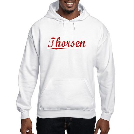 Thorsen, Vintage Red Hooded Sweatshirt