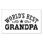 World's Best Grandpa Sticker (Rectangle)