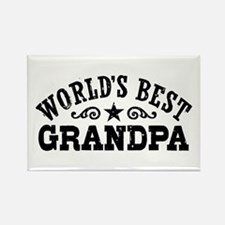 World's Best Grandpa Rectangle Magnet