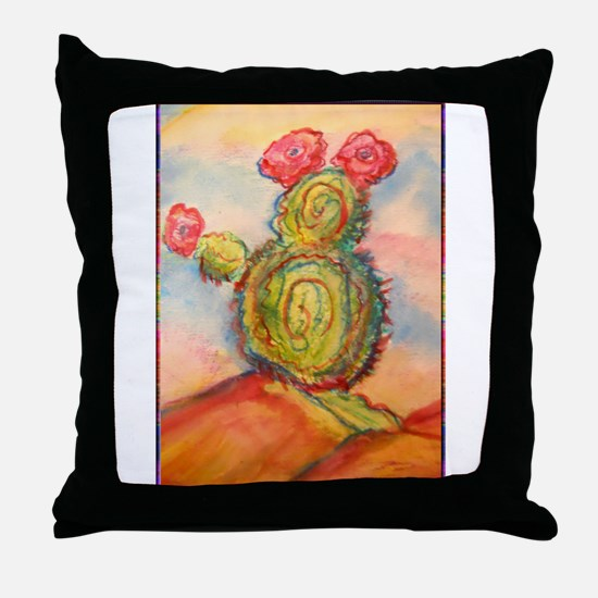 Cactus! Desert southwest art! Throw Pillow