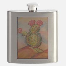 Cactus! Desert southwest art! Flask