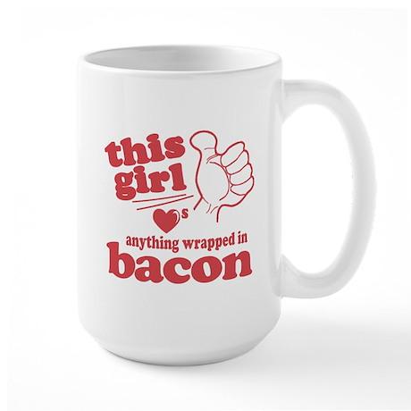 Girl Hearts Bacon Large Mug