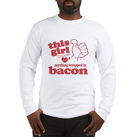 Girl Hearts Bacon Long Sleeve T-Shirt