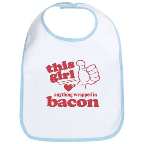 Girl Hearts Bacon Bib