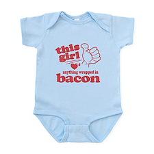 Girl Hearts Bacon Infant Bodysuit