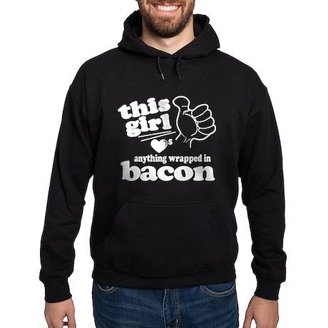 Girl Hearts Bacon Hoodie (dark)