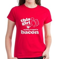 Girl Hearts Bacon Tee