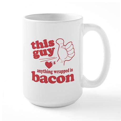 Guy Hearts Bacon Large Mug
