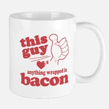 Guy Hearts Bacon Mug