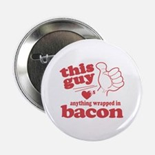 "Guy Hearts Bacon 2.25"" Button"