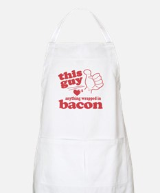 Guy Hearts Bacon Apron