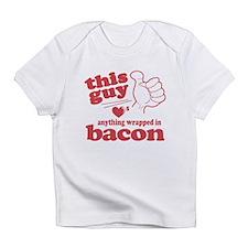 Guy Hearts Bacon Infant T-Shirt