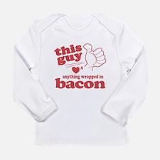 Guy Hearts Bacon Long Sleeve Infant T-Shirt