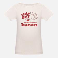 Guy Hearts Bacon Tee