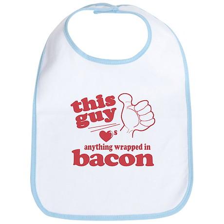 Guy Hearts Bacon Bib