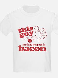 Guy Hearts Bacon T-Shirt