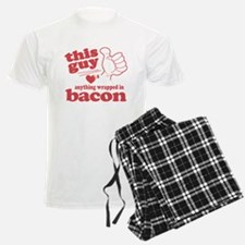 Guy Hearts Bacon Pajamas