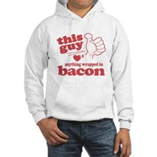 Guy Hearts Bacon Hoodie