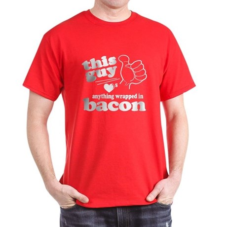 Guy Hearts Bacon Dark T-Shirt