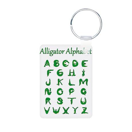 Alligator Alphabet Aluminum Photo Keychain