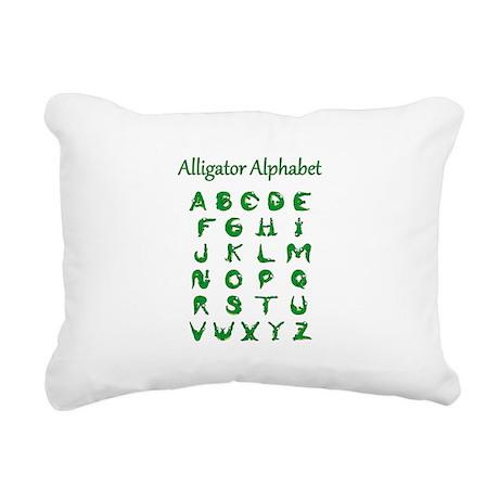 Alligator Alphabet Rectangular Canvas Pillow