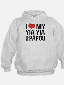 I Love My Yia Yia and Papou Hoodie