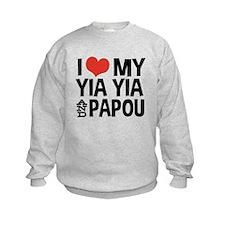I Love My Yia Yia and Papou Sweatshirt