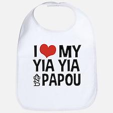 I Love My Yia Yia and Papou Bib