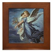 The Guardian Angel Framed Tile