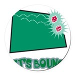 Lets Bounce Dice.png Round Car Magnet