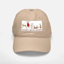Dances with Woofs (female) White or Tan Baseball Baseball Cap