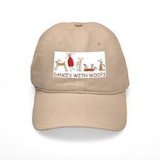 Dances with Woofs (female) White or Tan Baseball Cap