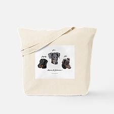 Cute Doberman rescue Tote Bag