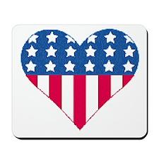 Stars & Stripes Heart Mousepad