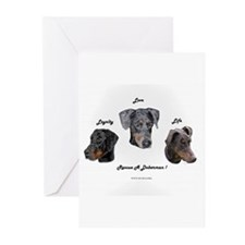 Unique Doberman rescue Greeting Cards (Pk of 10)