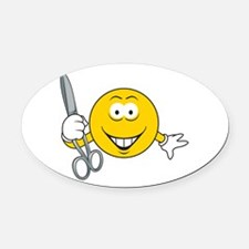 smiley36.png Oval Car Magnet