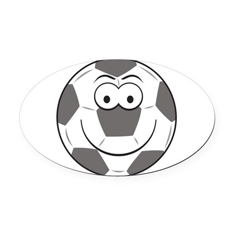 smiley219.png Oval Car Magnet