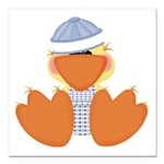 baby boy spring ducky.png Square Car Magnet 3