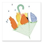 baby duck in umbrella.png Square Car Magnet 3