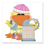 garden time baby girl duck.png Square Car Magnet 3