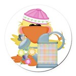 garden time baby girl duck.png Round Car Magnet