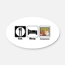 backgammon.png Oval Car Magnet
