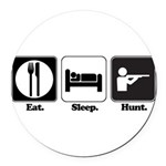 hunt.png Round Car Magnet
