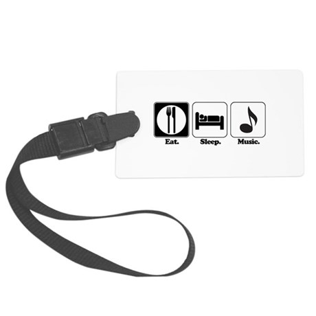 music.png Large Luggage Tag
