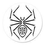 tribal spider design.png Round Car Magnet